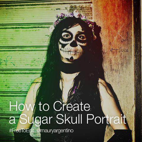create sugar skulls with photo editor
