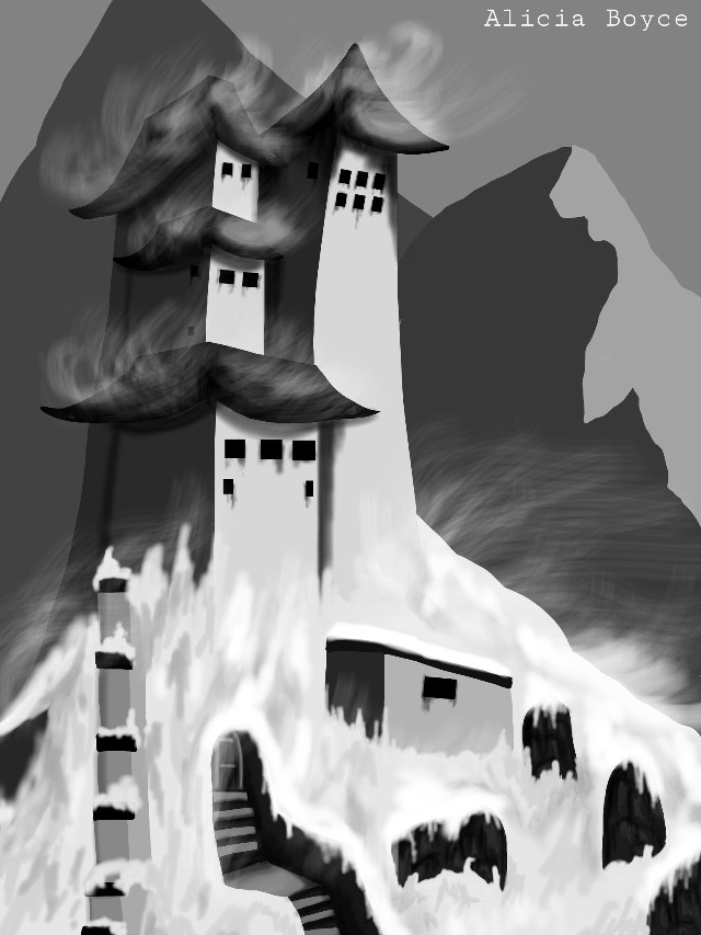 #dcmountains #drawing #mountains #snow #temples video http://youtu.be/C5M44zgcgGQ wasn't really finished with the drawing but decided to join the contest anyway XD