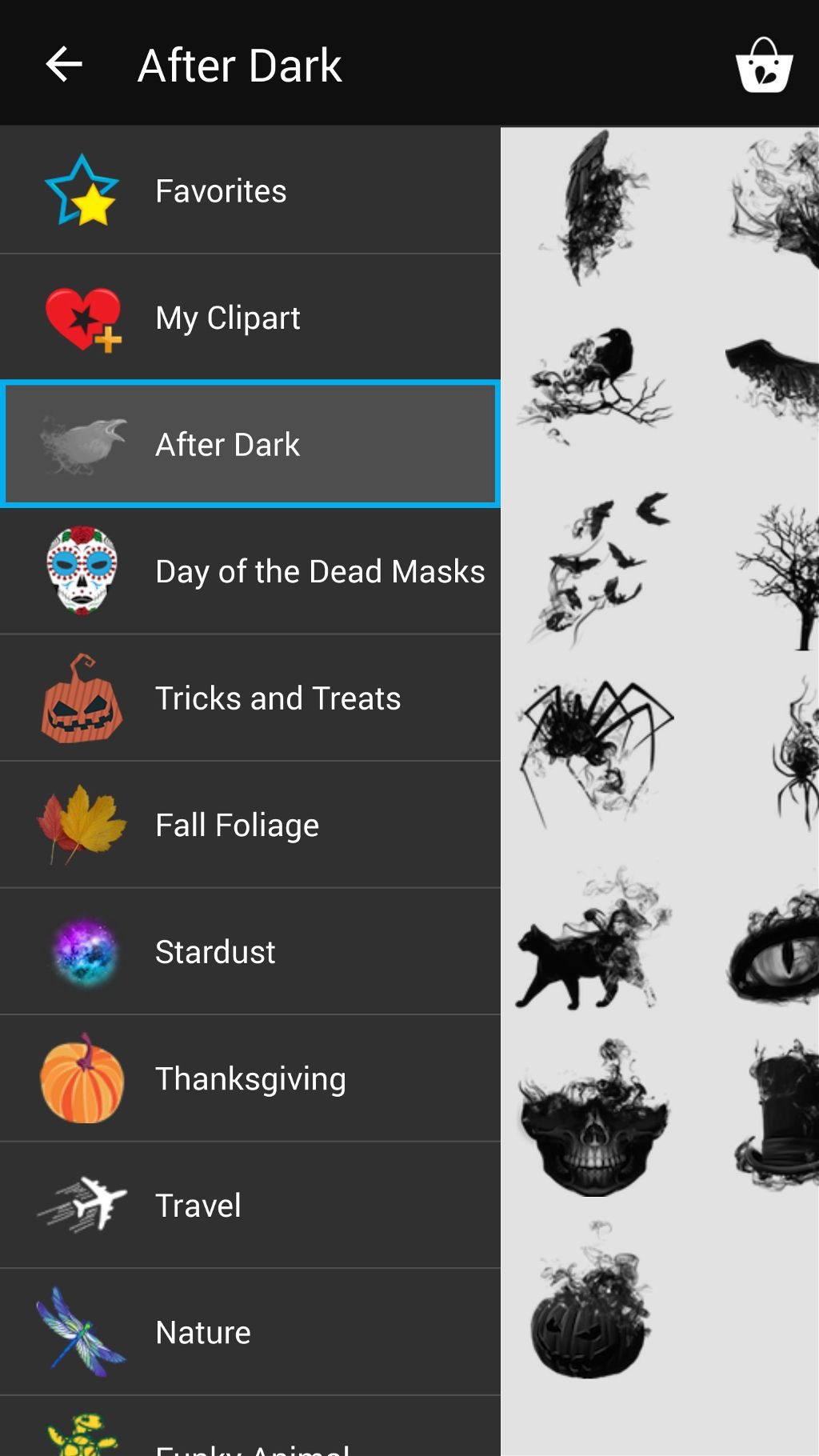 PicsArt After Dark clipart package