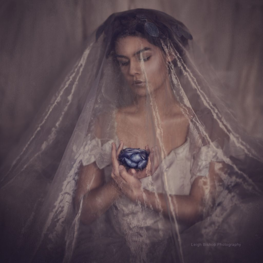 misterious bride photo