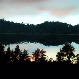 nature landscape silhouttes reflections freetoedit