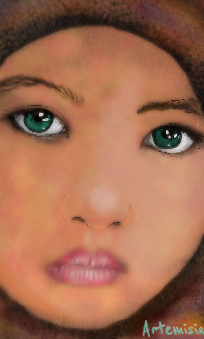 Jade eyes   #wdpeyes #drawing #protrait #people #portrait #digitalart