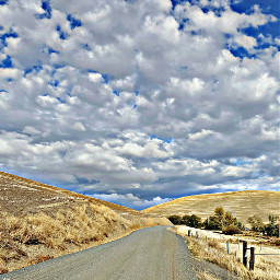 nature sky clouds road
