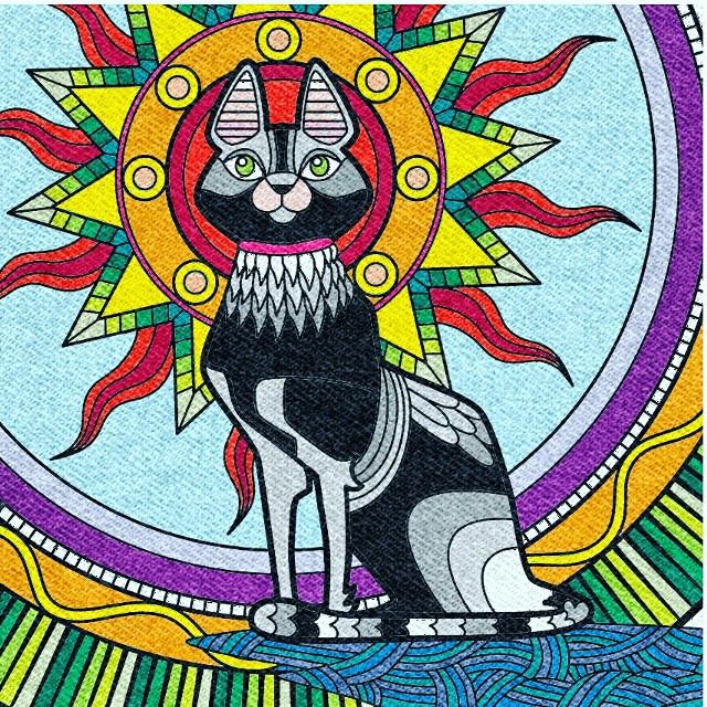 #colouringbook  #colouring  #cat  #sun