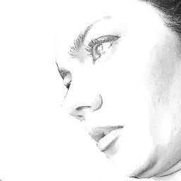 art selfie drawing face me