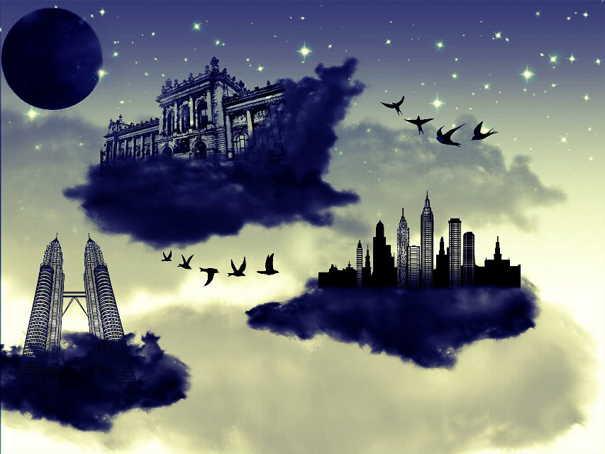 #wapintheclouds #clipart #floatingcity #fantasy