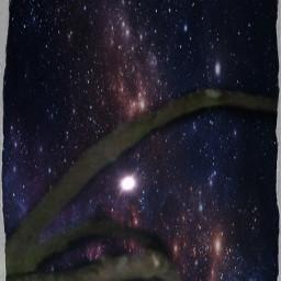 night moon star