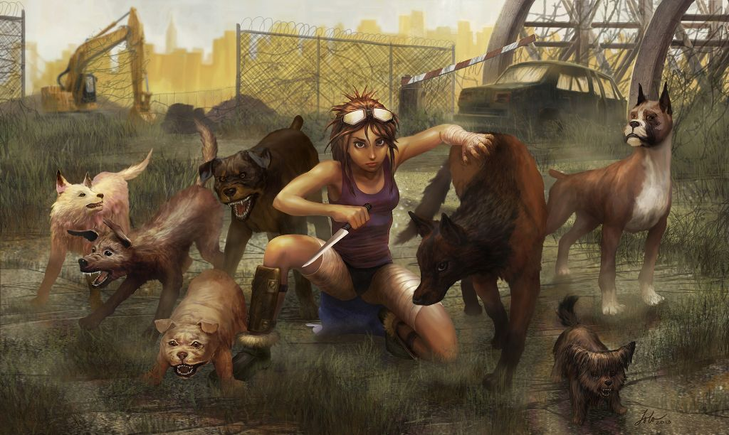 animal lover creative illustration