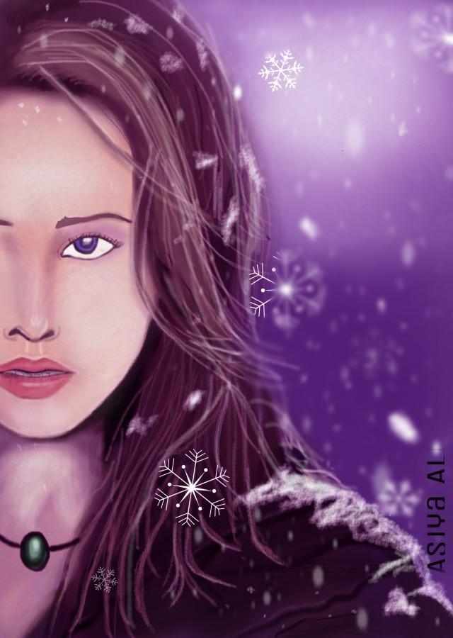 #wdpsnowflake #snow #holidayseason #holiday #drawing #sketch #digitaldrawing #girl #snowflakes