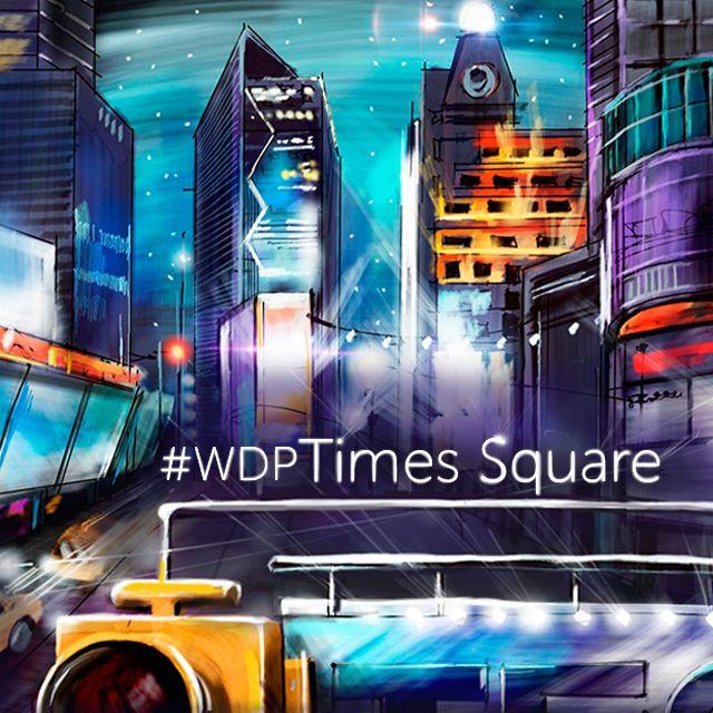 Draw a Times Square Scene