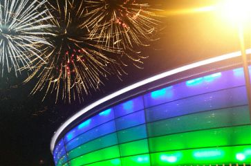 photography stadium fireworks colorful celebration