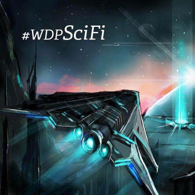draw a sci-fi scene
