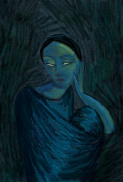 drawing picasso inspired blueperiod women