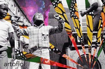 music dance collage