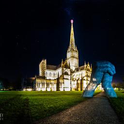 longexposure salisbury england cathedral night