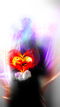 wapmystical mystical girl heart fire freetoedit