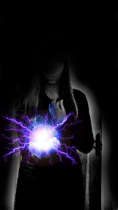 dark mystery girl electricity lightning freetoedit