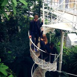 stairs freinds school trio trip