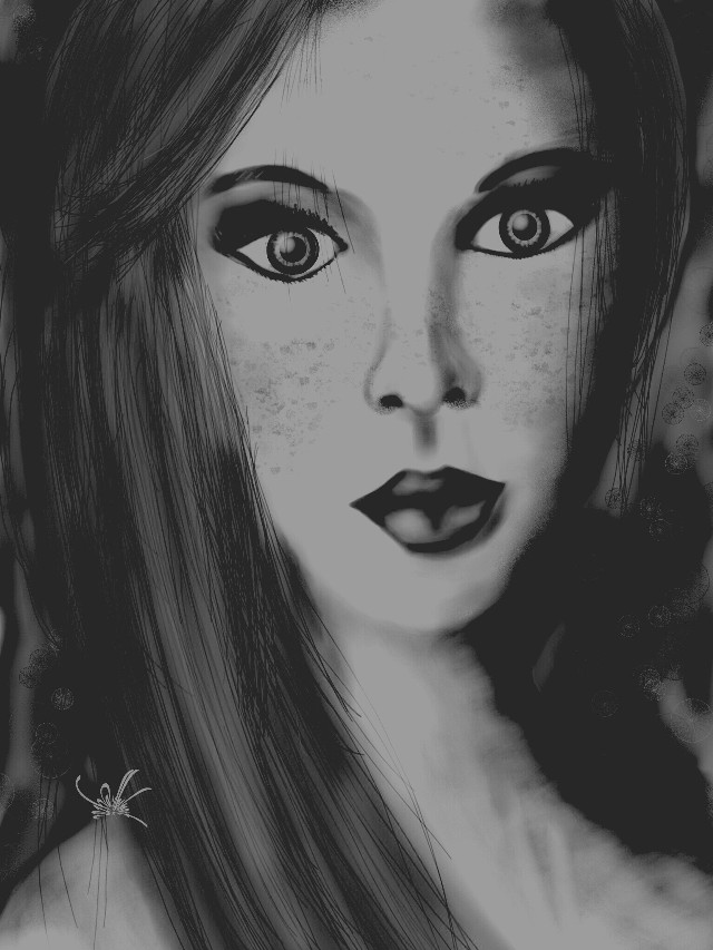Fille-femme 2 (2nd version of my 1st entry+ &b film effect) Drawn in PA and submitted to the #wdpwomenportraits contest. If you like or repost, thanks! 29-176/751 #drawing #artistic #people #blackandwhite #womanssay #womenday