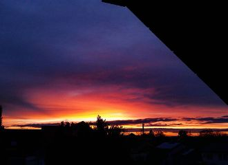 sunset hope sky colorful light