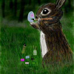 wdpbunny nature colorful drawing cute